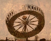 Round and Round - 8x10 photograph - fine art print - carnival ride - children's art - vintage photography - muted colors - neutral