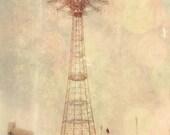 Coney Island - 8x10 photograph - Parachute Jump - fine art print - vintage photography -Brooklyn New York art