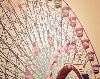 Texas State Fair - READY TO SHIP - Biggest Wheel in Texas - 8x10 photograph - fine art print - carnival artwork - nursery room print