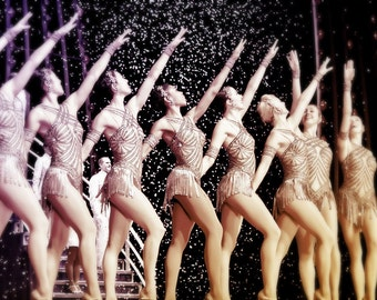 Rockettes on Stage - fine art print - New York City Rockettes - Christmas Photography - vintage style
