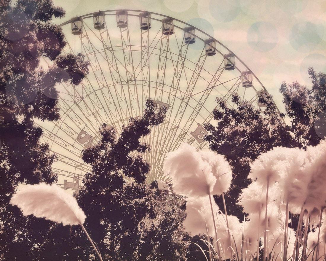 Ferris Wheel 8x10 photograph Cotton Candy