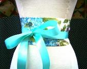 O RLY Obi Belt in Aqua/Blue Floral