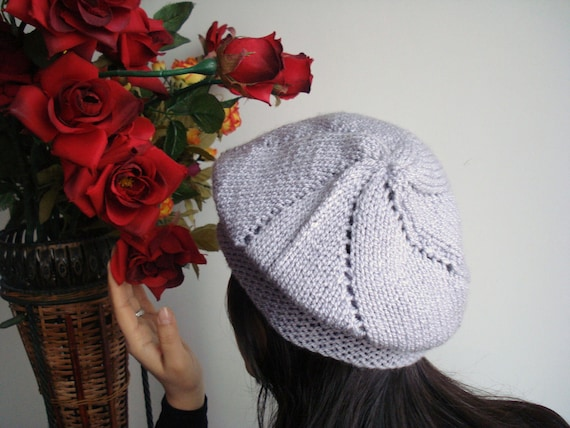 Knit Hat for Women - Adult knit beret, Handmade, Gray hat Knitted Oversized Slouchy Beanie Heads