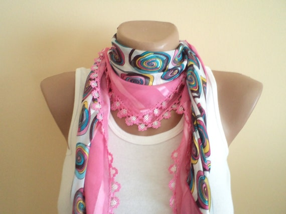 mothers days, mom gifts, unique cheesecloth, beaded lace, pink and blue shawl,stylish accessory,thin scarf