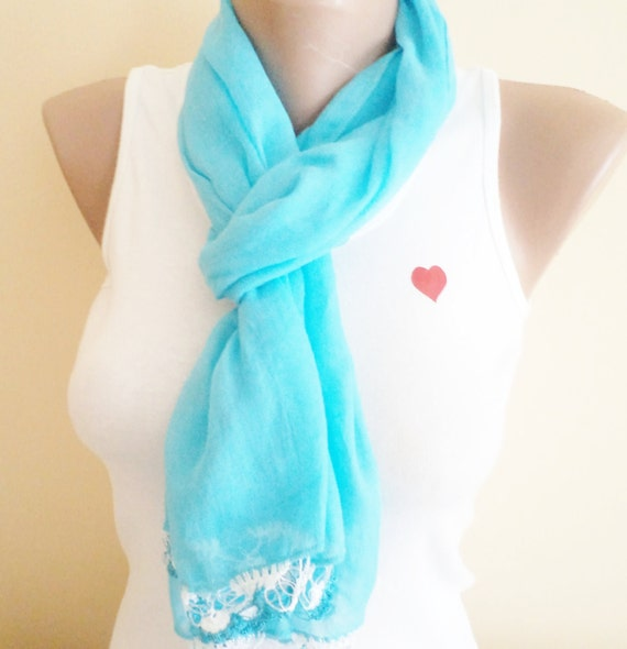 Cotton Scarf, Scarf, very soft scarf,  blue scarf,  accessories, New Fashion,  Women accessories, gifts. mom gifts