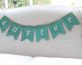 EASTER burlap banner - Shabby Chic - Beach - Easter banner -Photography prop