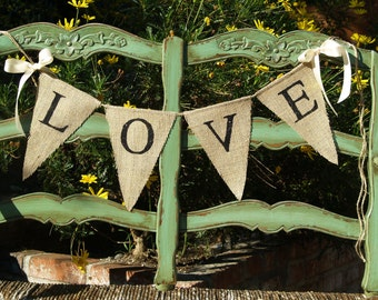 LOVE BURLAP BANNER - burlap banner - Custom Wedding Banner - Photography shoot