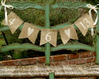 SAVE THE DATE burlap banner - Wedding Banner - Photography prop