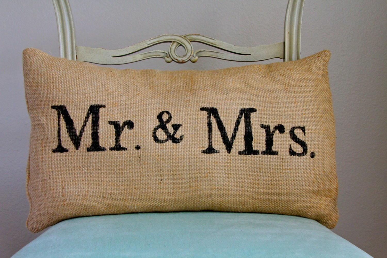 Mr Amp Mrs Burlap Pillow Wedding Pillow By Butterflyabove