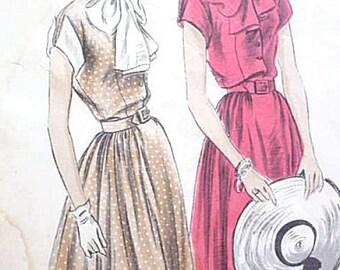 1940's Vogue Flowing Romantic Summer Dress Pattern 6781