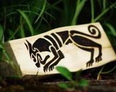 Celtic Hound, Wood Burning on Driftwood.