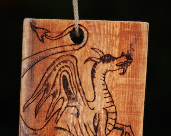 Proud Dragon Wood Burning.