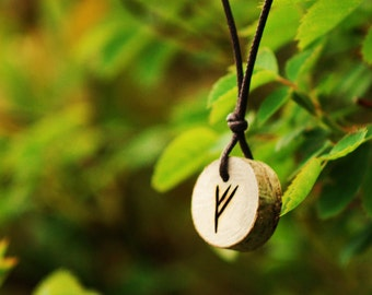 Birth Rune Pendant - Fehu,  29th June to 14th July.