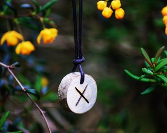 Birth Rune Pendant, 'Gebo' 28th September to 13th October.
