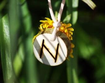 Birth Rune Pendant  'Hagalaz' 28th October to 13th November.