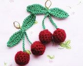 Sweet Cherry- Crochet Earrings