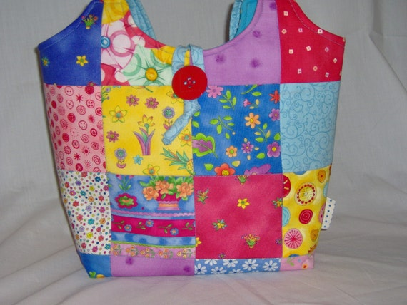 """Quilted Bag Patchwork Purse Multicolor Tote """"Ready to Ship"""" Women Accessories"""