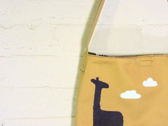 Large Toddler Boy Messenger Bag - Giraffe