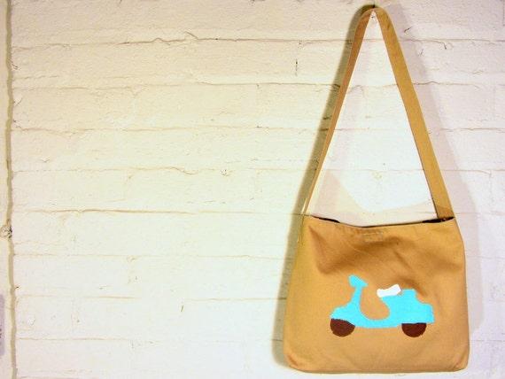 Large Toddler Boy Messenger Bag - Scooter