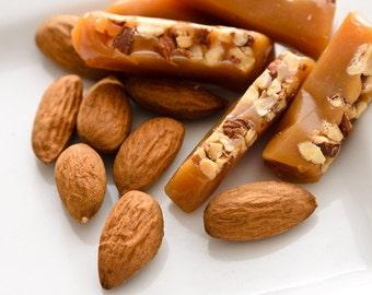 Honey Almond Caramels 1/4 lb. Box (Etsy)