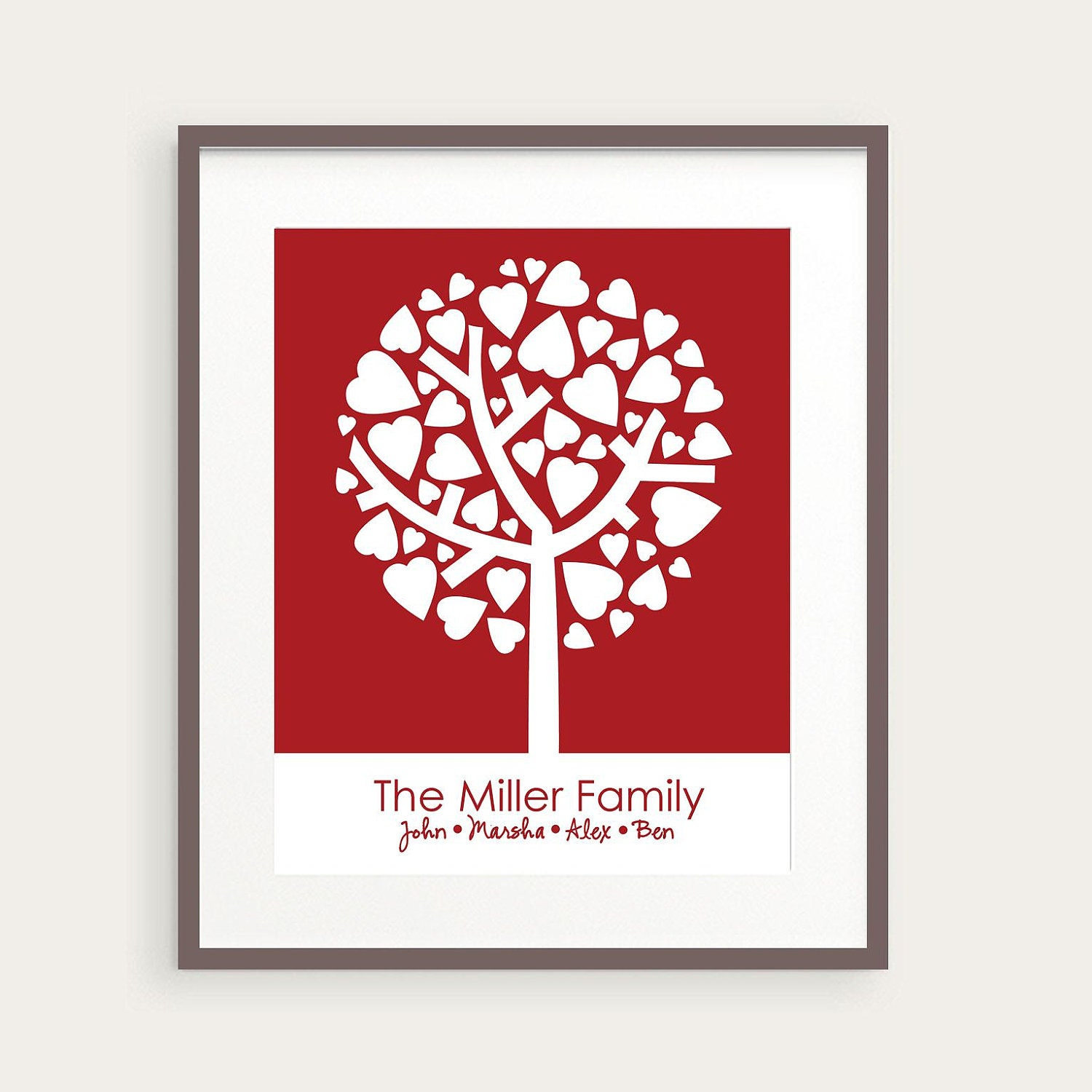 Wedding gift personalized family tree art with by for Family tree gifts personalized