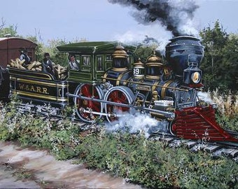 Civil War Notecards , The Great Locomotive Chase, The General