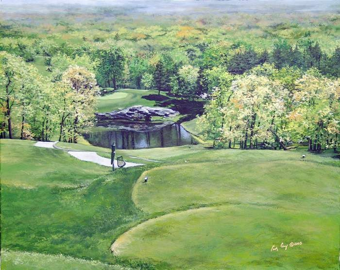 Golf Wall Decor Archival Print Fairfield Glade Resort Druid
