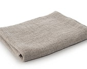Pure Linen Bath Towel in natural linen colour & FREE SHIPPING