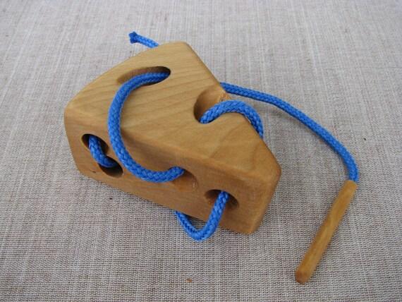 Lacing Activities Wooden toy