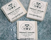 Lavender Patchouli Dog Soap Natural Flea Tick Repellant Moisturizing Aromatherapy Shea Olive Oil All Skin Types Vegan