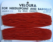 Vintage Veloura Yarn For Needlepoint and Bargello -Color 416 -Copper