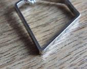 Geometric Diamond Shape Necklace - Diamond Outlines Brass