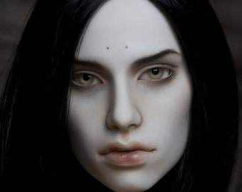 Harlequin resin bjd head