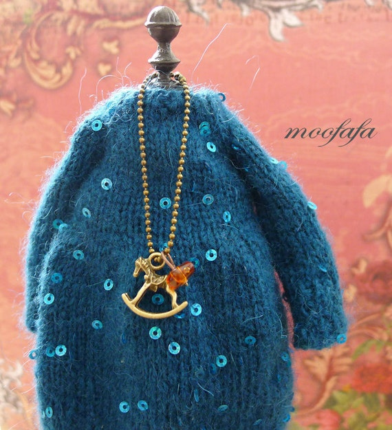 Rock horse Necklace Jewelry Necklace for Blythe Doll