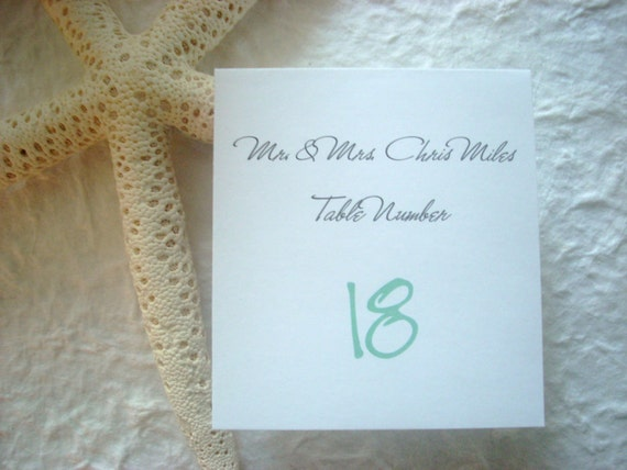 Fold over wedding place cards seating cards black white folded table numbers white table cards fold over place card custom printed seat card