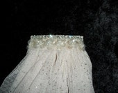 Simple Glitter and Bling Ivory Veil