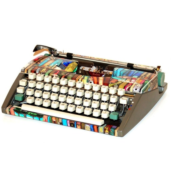 """RESERVED FOR CLAIRE - Revitalized Olympia Typewriter """"Shelf Life"""" Professionally Refurbished Portable & Two New Ribbons"""