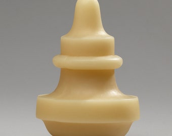 Pendant, large - Handmade sculptural beeswax candle