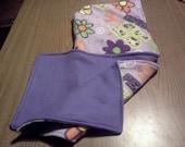 hood, scarf, scoodie fleece very  warm lavender groovy print with purple lining girls teens women winter sale new lower price