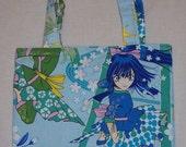 Girlie Ninja tote bag blue
