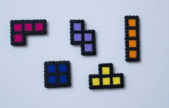 Tetris inspired magnet set