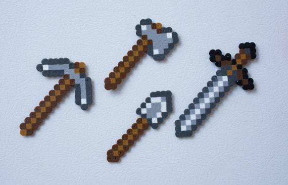 Minecraft iron tools inspired magnet set