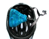 Helmet Ear Muffs Ear Warmers for Bicycles Teal With Blue Buttons