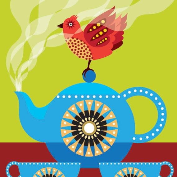 Vintage Tea Pot Print