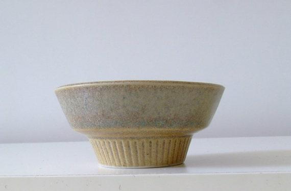 60s Danish candle holder - sand coloured - Knabstrup pottery