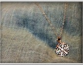 24k Yellow Gold over Sterling Silver Snowflake Necklace, snowflake charm, snowflake pendant, gold snowflake