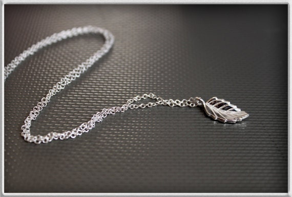 Leaf Jewelry Silver Silver Leaf Charm Necklace