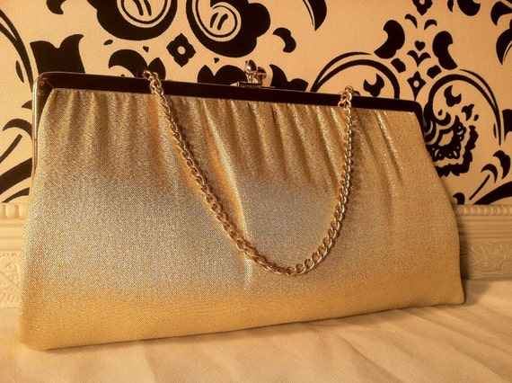 Gold Evening Bag by Ande' from Lazarus