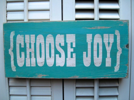 Choose Joy Word Art Sign