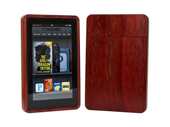 Wood Kindle Fire 1st gen Case exotic Padauk 50% off